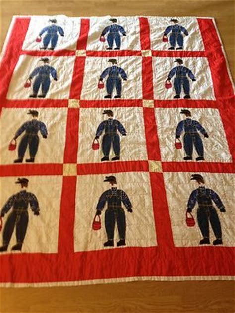 Coal Miner Quilt by Coal Miner Applique Pattern Appliq Patterns