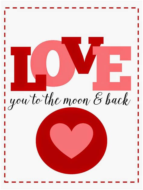 to the moon and back valentines day card template sweet blessings s sweetie printables day 1