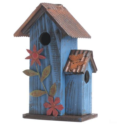 rustic wood birdhouse birds butterflies basic craft