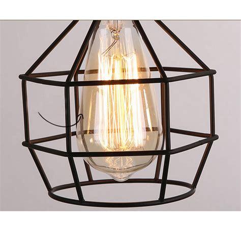Birdcage Light Fixture New Edison Vintage Ceiling Light Pendant L Fixture Chandelier Cage Lshade Ebay