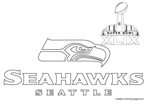 coloring pages football seahawks free printable super bowl seattle seahawks coloring pages