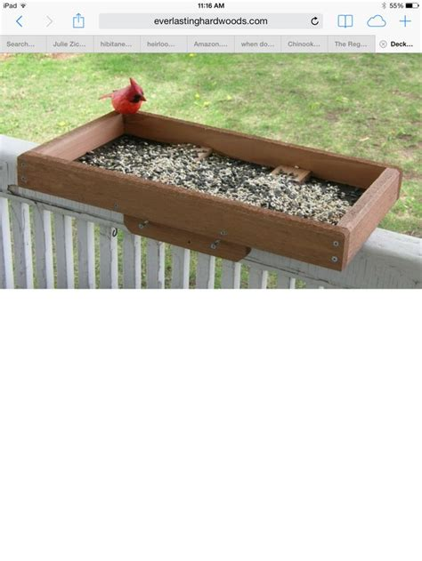 bird feeder for the deck railing diy crafts pinterest