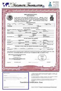 Translated Birth Certificate Template by Birth Certificate Translation Of Documents