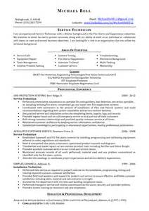 Hazardous Materials Specialist Sle Resume by Alarm Technician Cover Letter