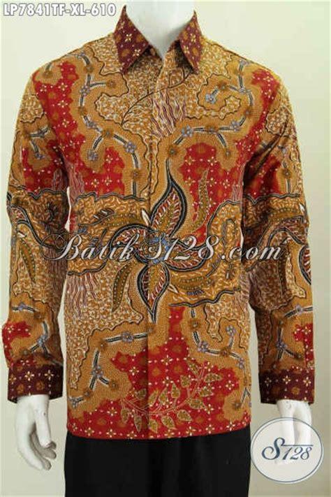 Baju Imlek Pria Dewasa jual baju kemeja batik pria dewasa ukuran xl hem batik tulis furing lengan panjang