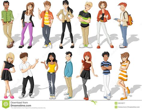 Happy Home Network Design Contest cartoon teenagers royalty free stock photography image