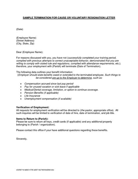 Employee Termination Letter Format Doc termination letter doc letters free sle letters