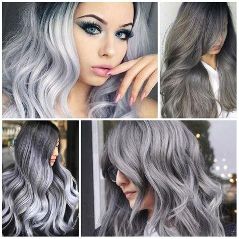 how to color gray hair gray best hair color ideas trends in 2017 2018