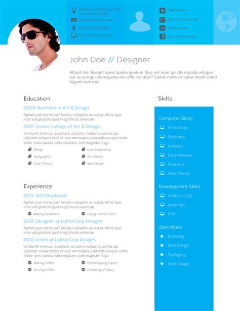 Resume Templates Flat Design Quot Flat Design Quot Resume Template On Behance