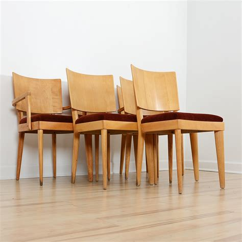 Gateleg Dining Table And Chairs Mid Century Modern Heywood Wakefield Gateleg Dining Table And Chairs Ebth