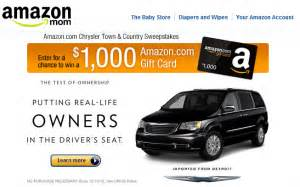 Town Country Sweepstakes - amazon com chrysler town country sweepstakes win a 1 000 amazon gift card