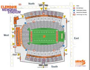 stadium seat map football seating chart tigernet