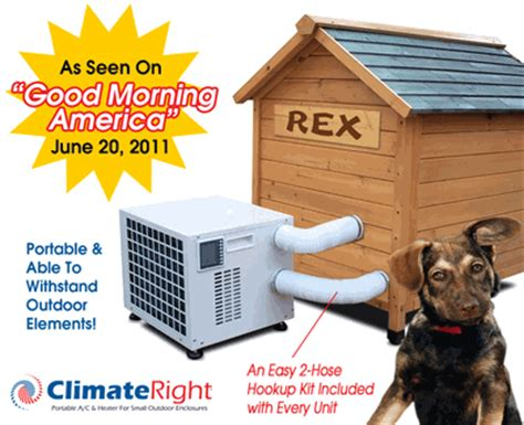 air conditioned and heated dog houses dog house air conditioner and heater also for small enclosures