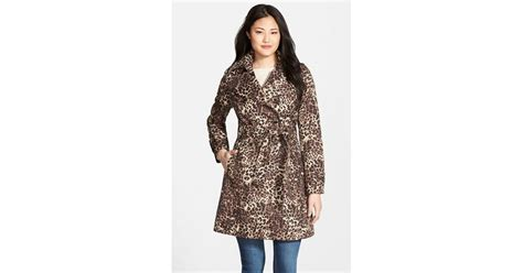 Found A Saucy Leopard Trench Coat by Via Spiga Animal Print Breasted Trench Coat Lyst