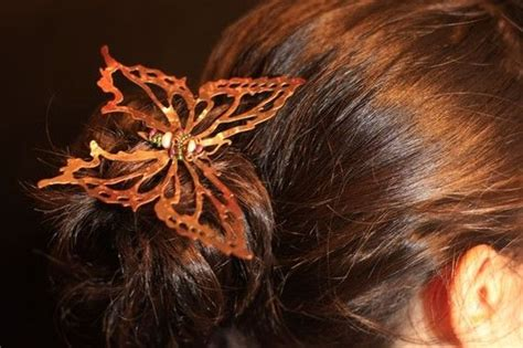Set Of 2 Butterfly Hair Stick 60 best s copper fairies images on