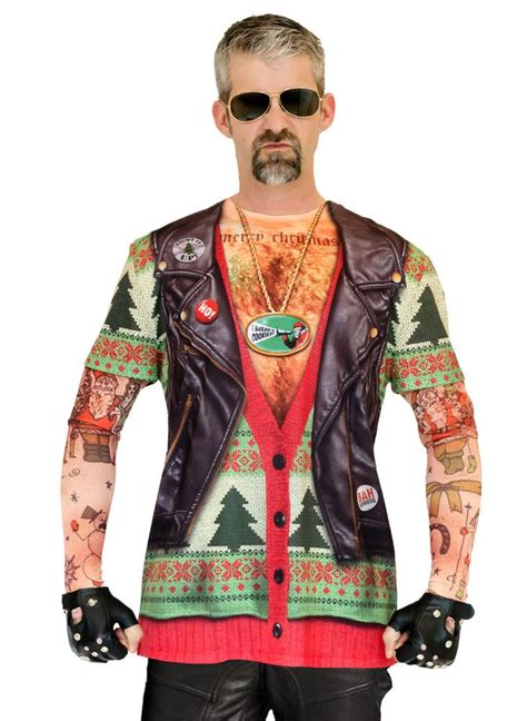 tattoo xmas shirt ugly christmas sweater t shirt adult motorcycle biker