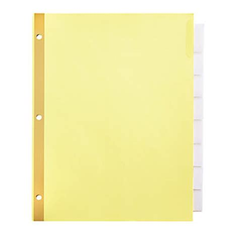 office depot brand insertable tab dividers clear tabs buff