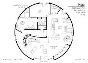 Dome Home Floor Plans Floor Plan Dl 5203 Monolithic Dome Institute