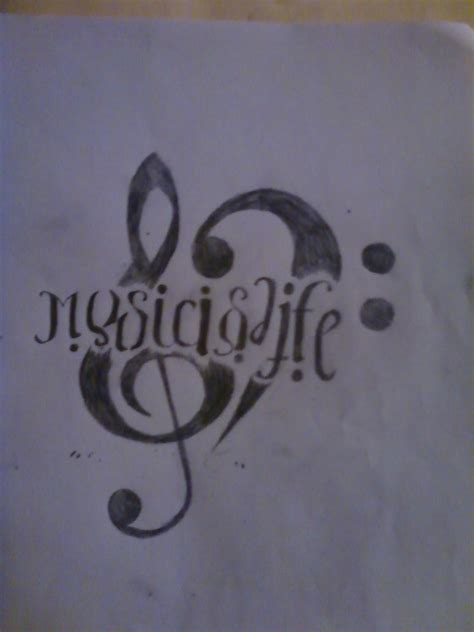 music is life tattoo is is by pixie on deviantart
