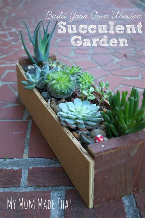 build   wooden succulent garden box garden boxes