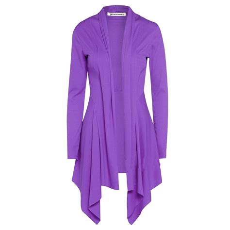 drape coat womens new womens open front plain long sleeve waterfall cardigan