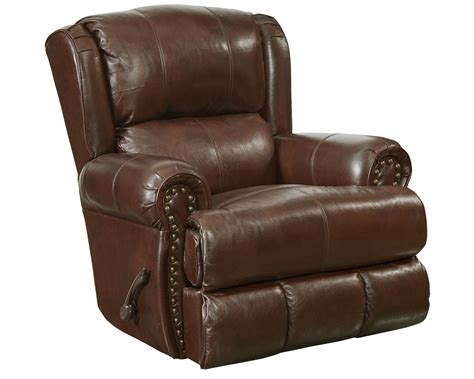 grain leather recliner catnapper duncan top grain leather touch deluxe glider