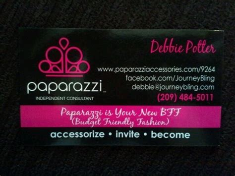 My New Business Cards So Pretty Debbie S Paparazzi Pink Boutique Pinterest Business Paparazzi Business Card Template