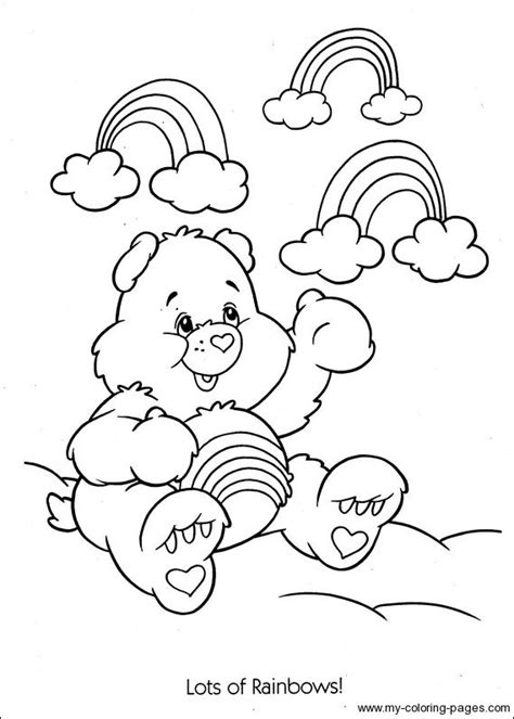 care bears coloring pages cheer bear 73 best care bear cheer bear 4 images on pinterest