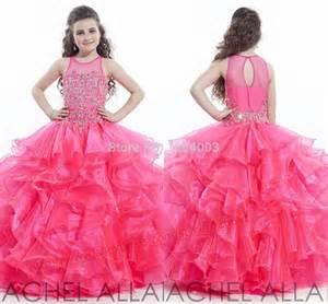 Cute girls pageant dresses 2015 free shipping ruffles beaded kids