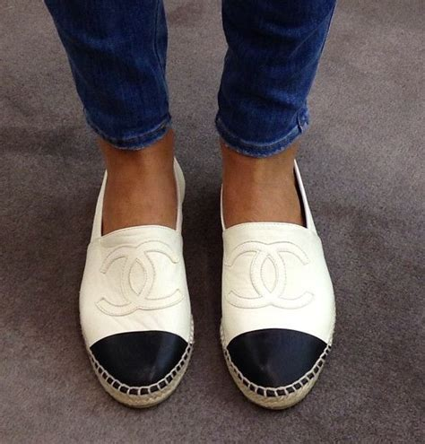 Slip On Shoes Chanel 8819 chanel slip on espadrilles clothes shoes accessorize