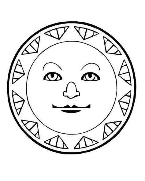 aztec coloring pages pdf aztec sun stone coloring page murderthestout