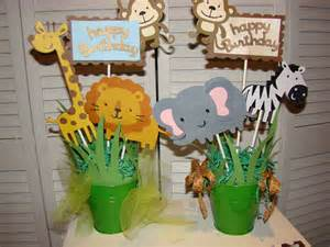 Safari Centerpieces For Baby Shower by Jungle Safari Baby Shower Centerpiece By Pearlyskies