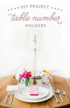 diy table number holders table number holders on table numbers place