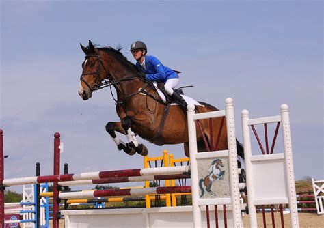 scow images show jumping events in bournemouth at parley equestrian centre