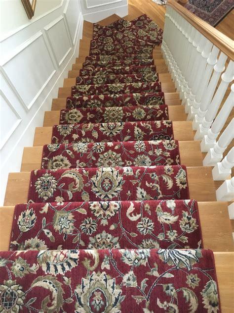 black patterned runner red oriental patterned stair runner walls stair rods