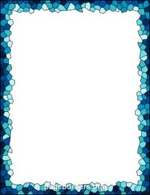 printable mosaic border use the border in microsoft word or other programs for creating flyers - Mosaik Bordre