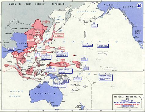 map of wwii pacific february 1945