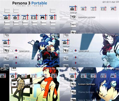 Theme Psp Persona 3 | psp theme persona 3 portable by takebo on deviantart