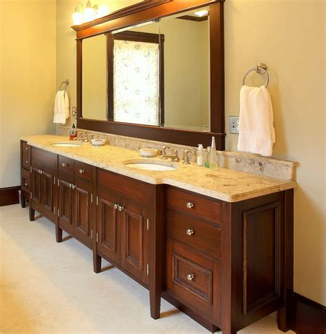 custom double sink bathroom vanity hand made double sink bath vanity by benchmark woodworks