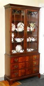 hickory chair co chippendale style china cabinet lot 91