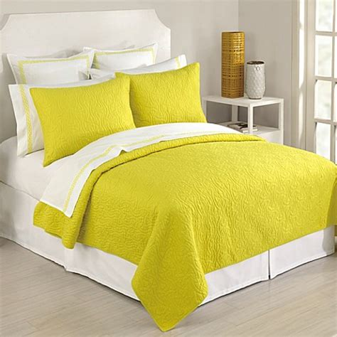 trina turk coverlet trina turk 174 santorini coverlet in yellow bed bath beyond