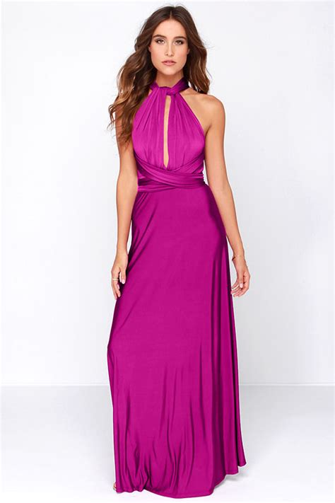 Dress Megita pretty maxi dress convertible dress magenta dress infinity dress 58 00