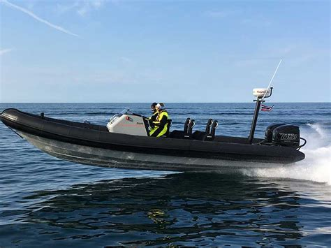 rib boat gothenburg world premiere of new boat with diesel outboard engines at