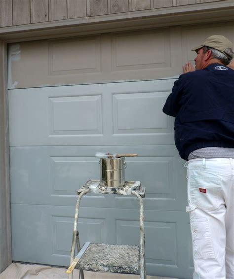 painting aluminum garage doors 1000 ideas about painted garage doors on