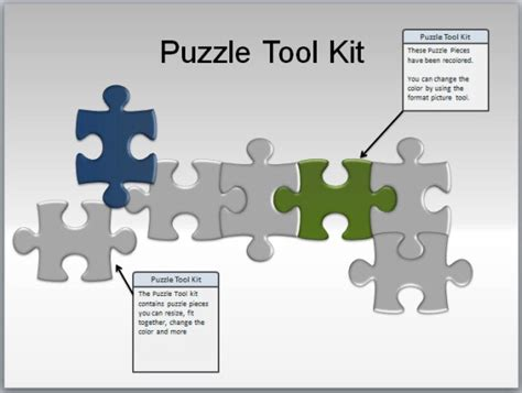 powerpoint template puzzle pieces free puzzle pieces toolkit for powerpoint presentations