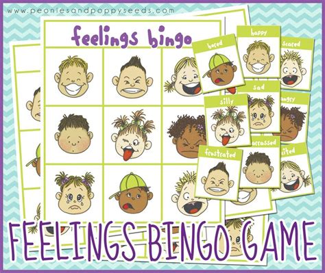 printable board games for 4 year olds free printable bingo game about feelings for the boy in