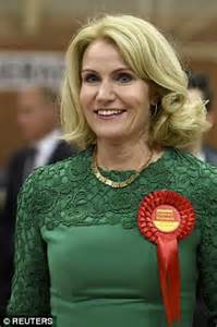 helle of helle thorning schmidt celebrates with labour husband