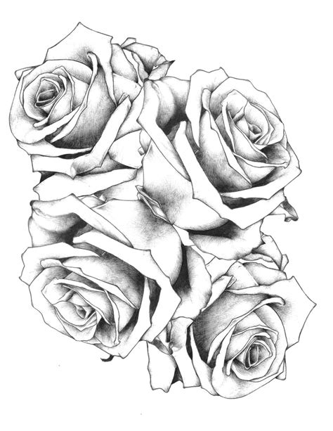 black n white rose tattoos design 2 by jacklumber on deviantart