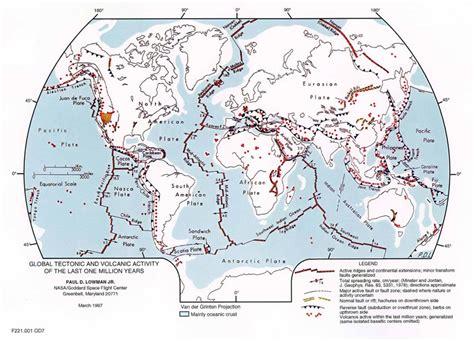tectonic plates map usa plate tectonics map plate boundary map