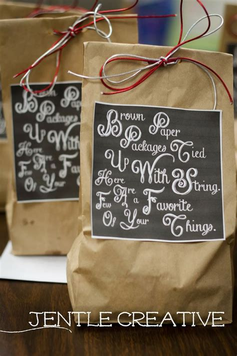 holiday gift bags and gifts for neighbors or coworkers